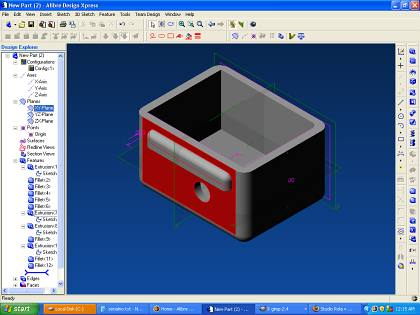 Alibre express free parametric solid 3d cad studio rola 3d drawing software