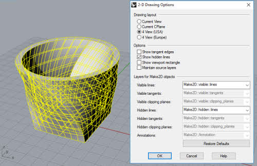 Tutorial: Making 2D Technical Drawing of Rhino 3D model