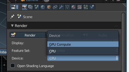 Blender GPU render
