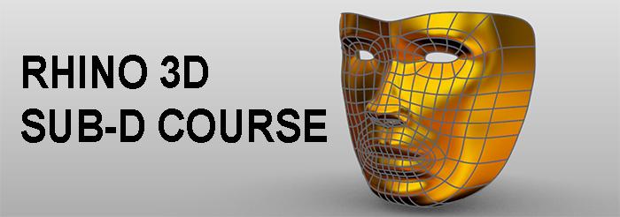 Rhino 3D Organic Modelling (Sub-D) Course